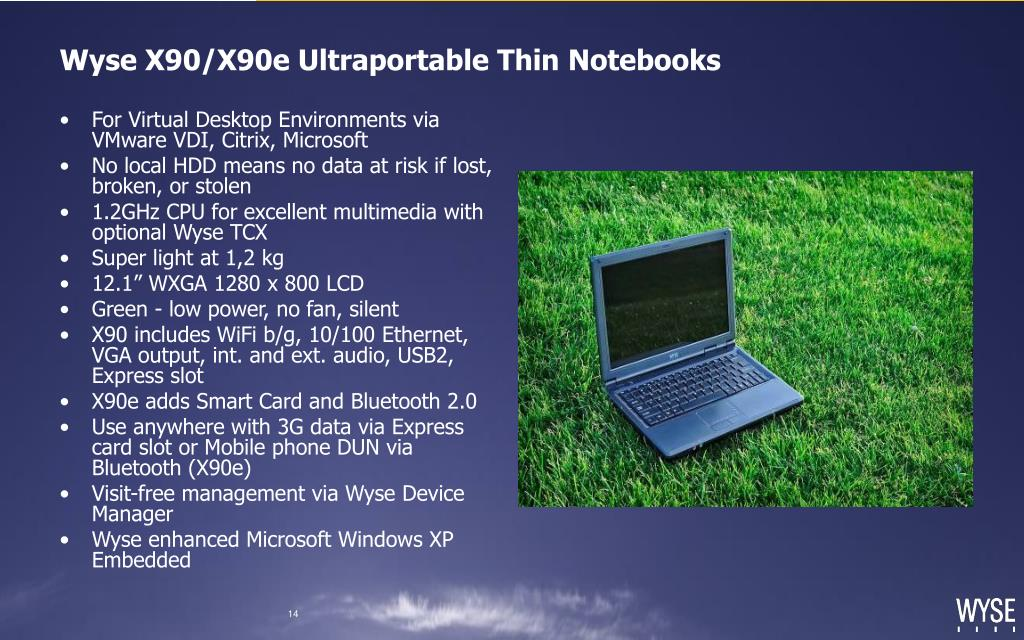 Wyse X90/X90e Ultraportable Thin Notebooks