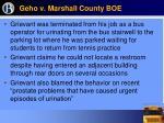 geho v marshall county boe