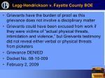 legg hendrickson v fayette county boe57