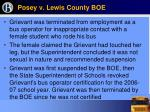 posey v lewis county boe