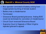 ratcliff v mineral county boe