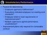unsatisfactory performance