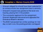 vangilder v marion county boe