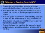 wimmer v braxton county boe