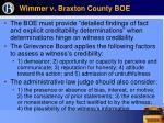 wimmer v braxton county boe19