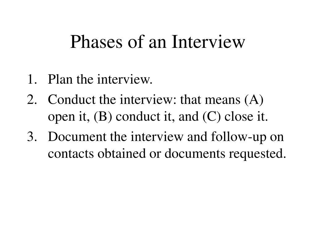 Phases of an Interview