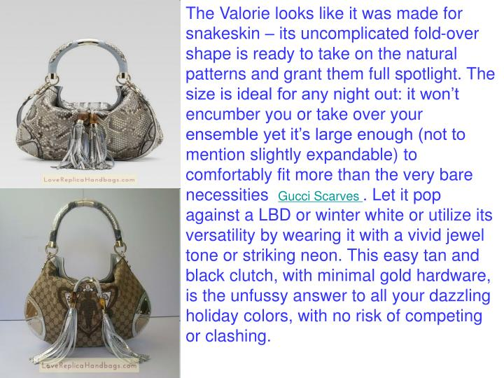 The Valorie looks like it was made for snakeskin – its uncomplicated fold-over shape is ready to t...