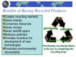 benefits of buying recycled products