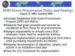 dod green procurement policy and strategy