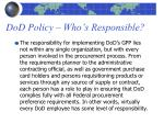 dod policy who s responsible