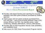environmental reporting logistics system erls dla s green procurement report
