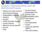 examples of designated items under the biopreferred program