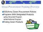 green procurement training overview