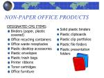 non paper office products