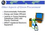 other aspects of green procurement