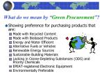 what do we mean by green procurement