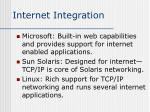 internet integration