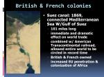 british french colonies