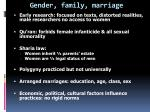 gender family marriage