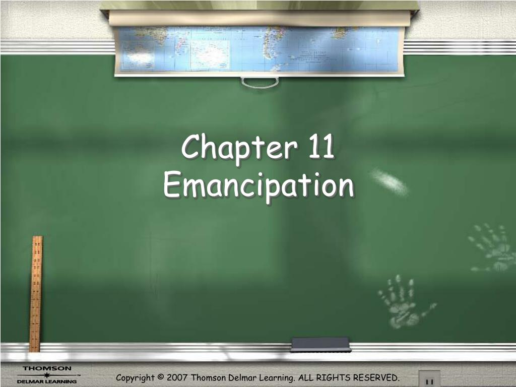 chapter 11 emancipation l.