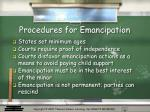 procedures for emancipation
