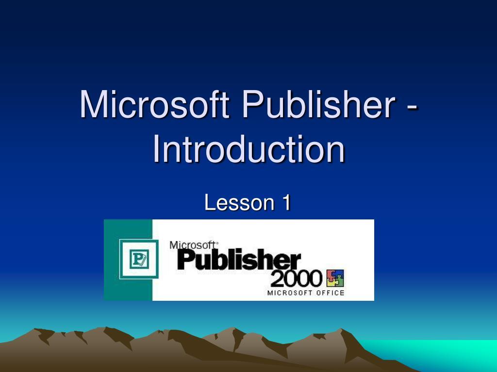 microsoft publisher introduction l.