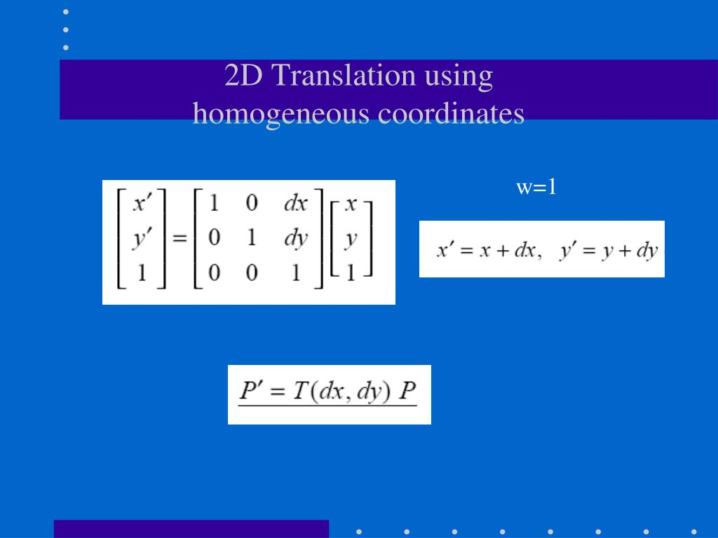 PPT - 2D/3D Geometric Transformations PowerPoint
