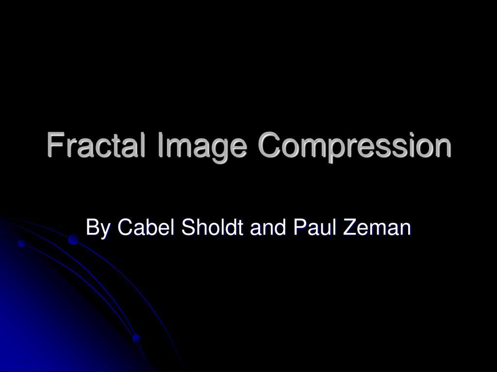 fractal image compression l.