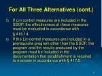 for all three alternatives cont15
