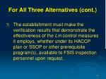 for all three alternatives cont16