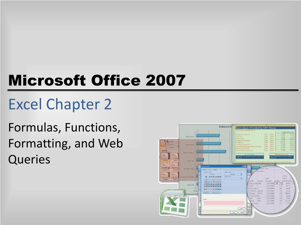 excel chapter 2 l.