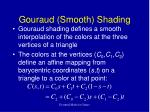 gouraud smooth shading