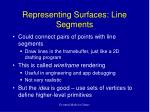representing surfaces line segments