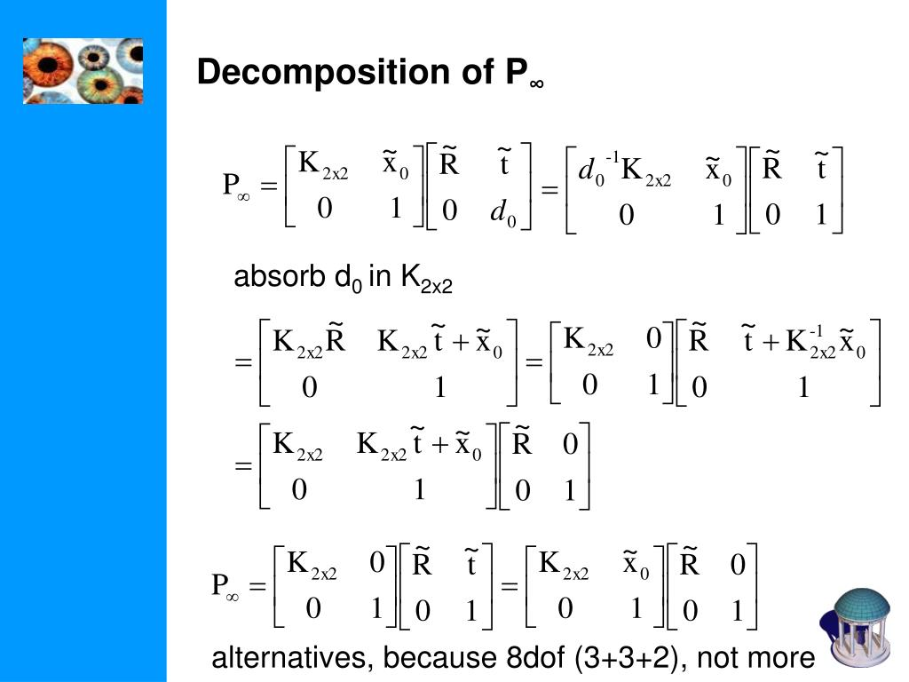 Decomposition of P