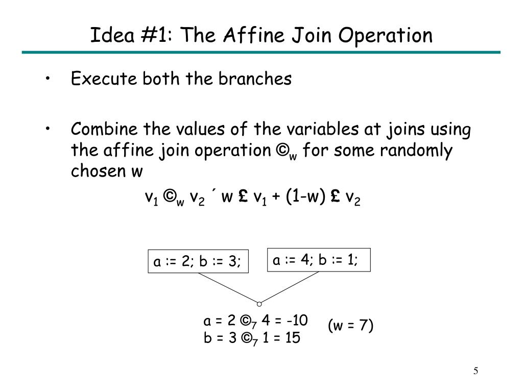 Idea #1: The Affine Join Operation