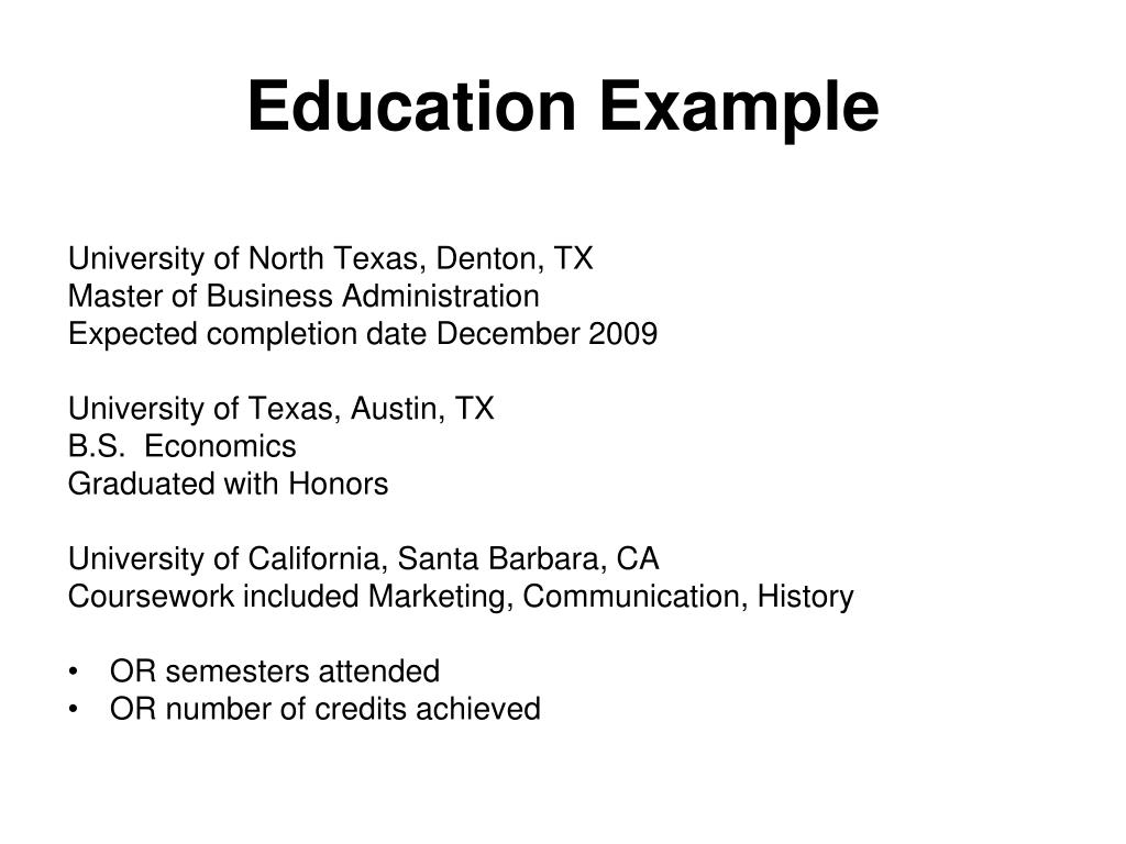 Education Example