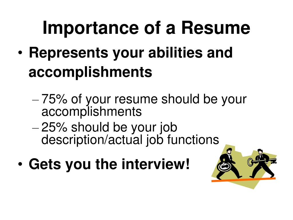 Importance of a Resume