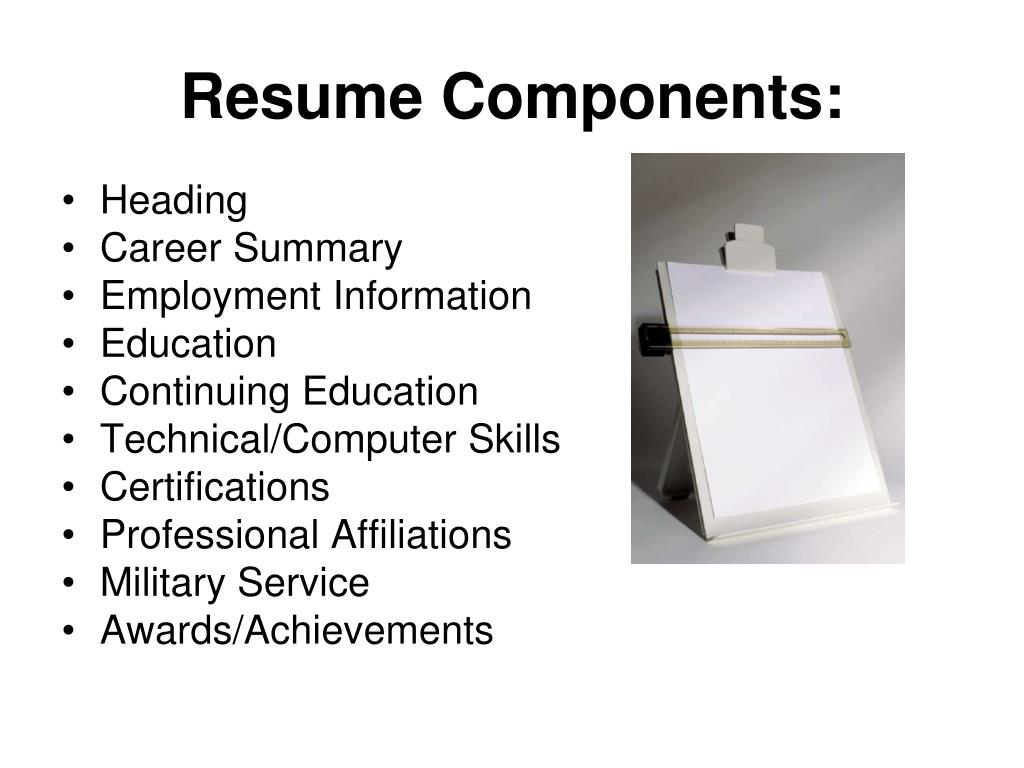 Resume Components: