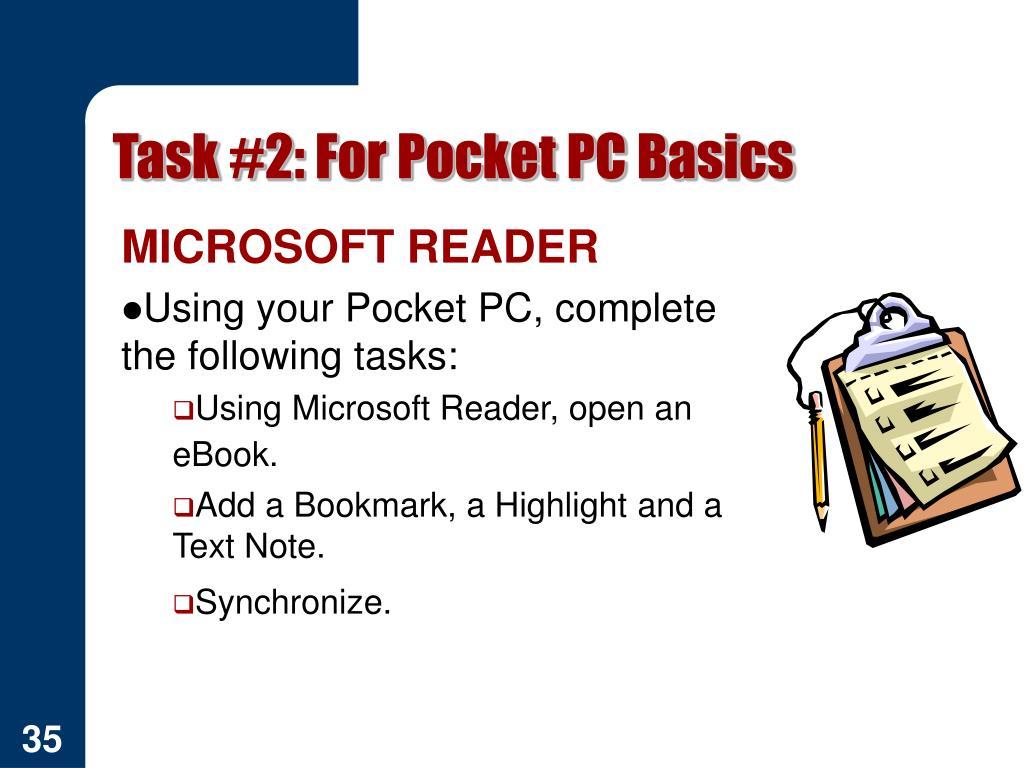 Task #2: For Pocket PC Basics