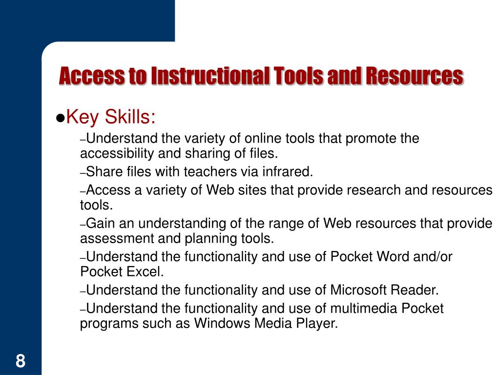 Access to Instructional Tools and Resources
