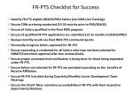 fr pts checklist for success