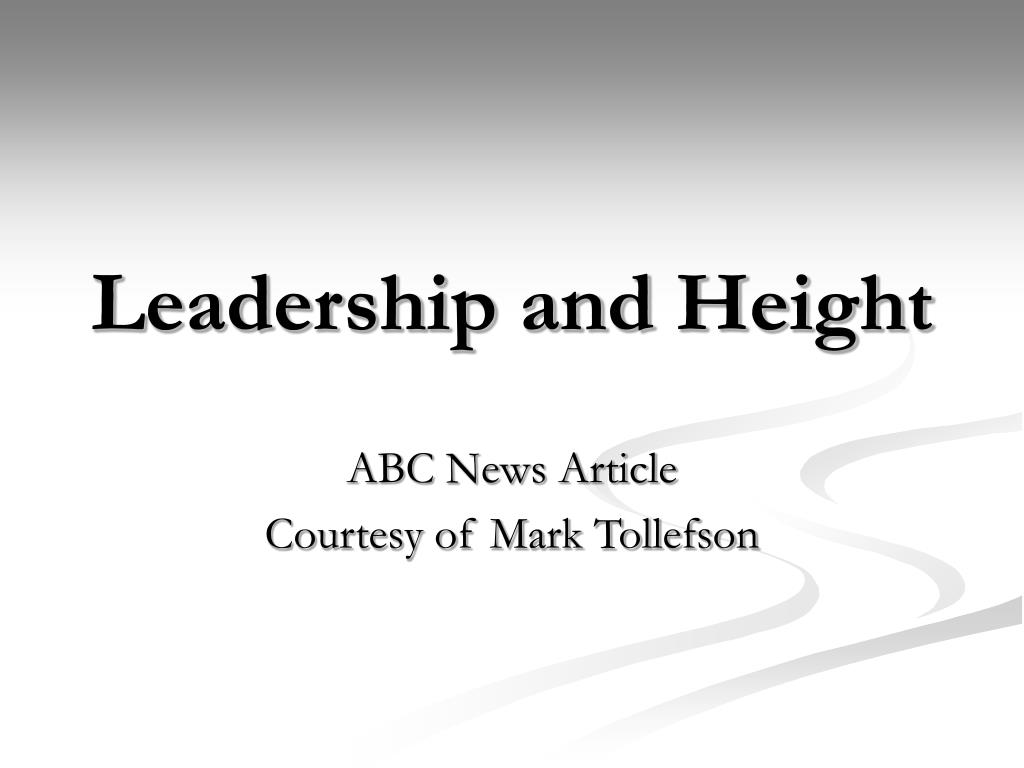Leadership and Height