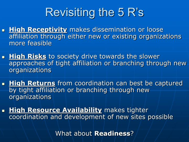 Revisiting the 5 R's