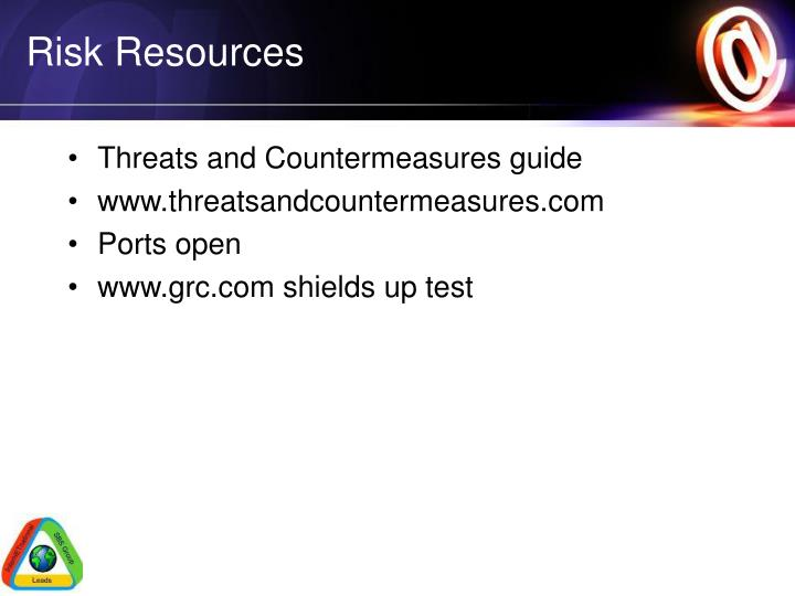 Risk Resources