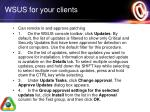 wsus for your clients