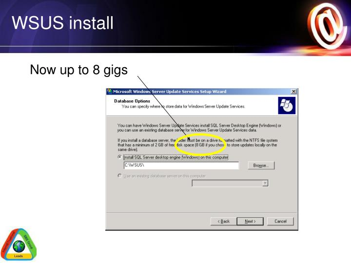WSUS install