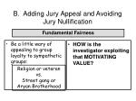 b adding jury appeal and avoiding jury nullification66
