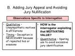 b adding jury appeal and avoiding jury nullification68