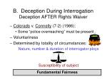 b deception during interrogation deception after rights waiver32