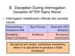 b deception during interrogation deception after rights waiver33